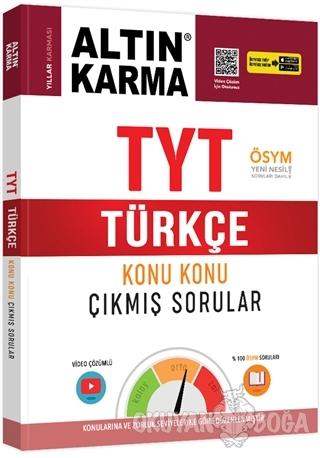 TYT Türkçe Konu Konu Çıkmış Sorular - Kolektif - Altın Karma Yayınları