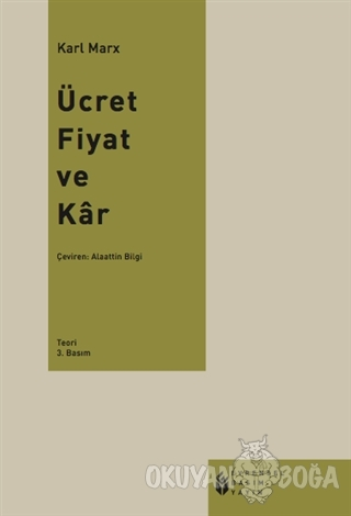 Ücret, Fiyat ve Kar - Karl Marx - Evrensel Basım Yayın