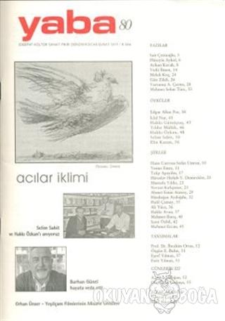 Yaba Edebiyat Dergisi Sayı: 80