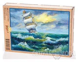 Yelkenli ve Deniz Ahşap Puzzle 204 Parça (MZ01-CC)