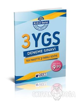YGS 3 Deneme Sınavı KOZ Serisi - Kolektif - Özet Yayınları