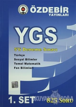 YGS 5'li Deneme Sınavı 1.Set (Mavi) - Kolektif - Öz-De-Bir Yayınları