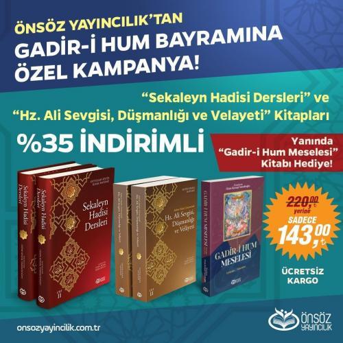 GADİR-İ HUM SETİ 3 KİTAP TOPLAM 5 CİLT Seyyid Kemal Haydari
