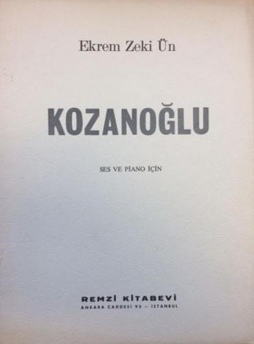 Kozanoğlu / Ekrem Zeki Ün %20 indirimli