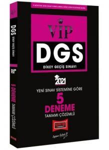 Yargı 2021 DGS VIP Yeni Sınav Sistemine Göre Tamamı Çözümlü 5 Deneme