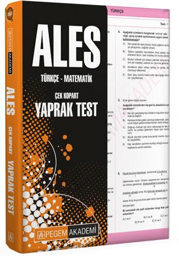 2021 ALES Çek Kopart Yaprak Test Pegem Komisyon