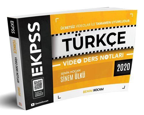 Benim Hocam 2020 EKPSS Türkçe Video Ders Notları (İADESİZ) Sinem Ülkü