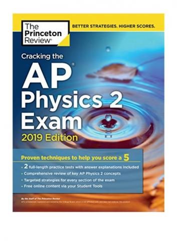 Cracking the AP Physics 2 Exam The Princeton Review