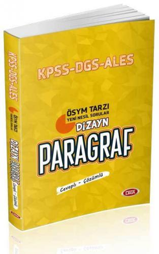 Data KPSS ALES DGS Dizayn Yeni Nesil Sorularla Paragraf Soru Bankası C