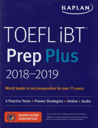 Kaplan 2018 2019 TOEFL İBT Prep Plus Kaplan Komisyon