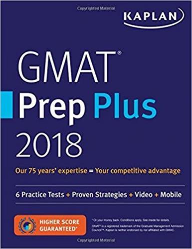 Kaplan 2018 GMAT Prep Plus Kaplan Komisyon