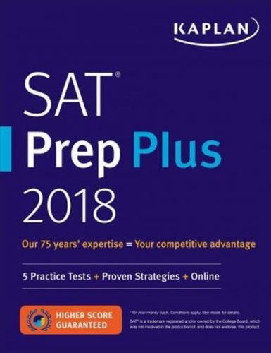Kaplan SAT Prep Plus 2019 Kaplan Komisyon