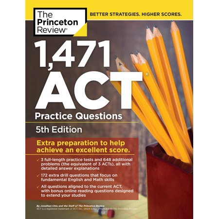 1,471 ACT Practice Questions The Princeton Review