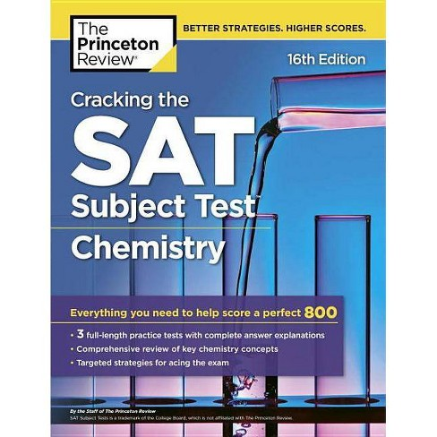 Cracking the SAT Subject Test Chemistry The Princeton Review