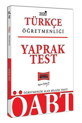 Yargı 2020 KPSS ÖABT Türkçe Öğretmenliği Yaprak Test (İADESİZ) Yargı K