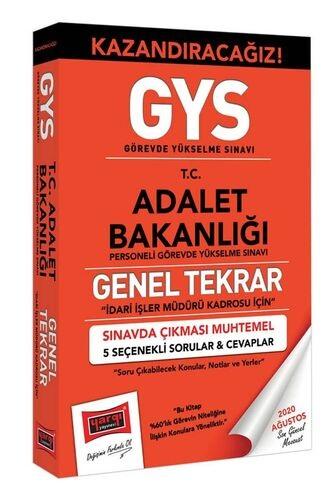 Yargı GYS Adalet Bakanlığı İdari İşler Müdürü Kadrosu İçin Genel Tekra