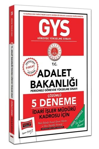 Yargı GYS T.C. Adalet Bakanlığı İdari İşler Müdürü Kadrosu İçin Çözüml