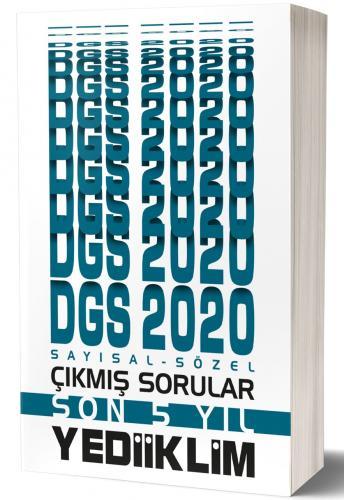 Yediiklim 2020 DGS Sayısal Sözel Bölüm Son 5 Yıl Çıkmış Sorular Yediik