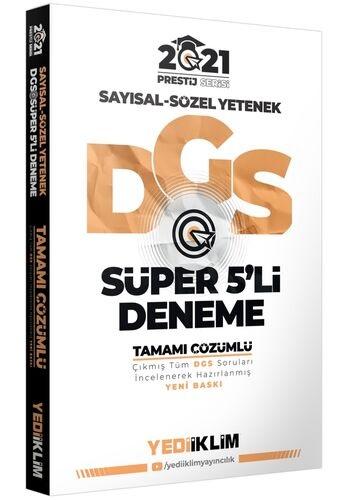 Yediiklim 2021 DGS Prestij Serisi Tamamı Çözümlü Süper 5 Deneme Yediik