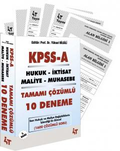 4T KPSS A Grubu Tamamı Çözümlü 10 Deneme