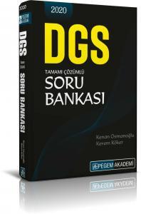 Pegem Yayınları 2020 DGS Tamamı Çözümlü Soru Bankası