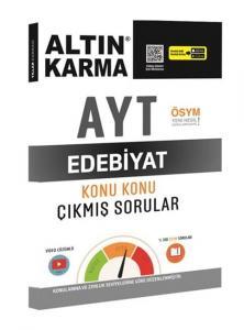 Altın Karma Yayınları AYT Edebiyat Konu Konu Çıkmış Sorular Video Çözümlü
