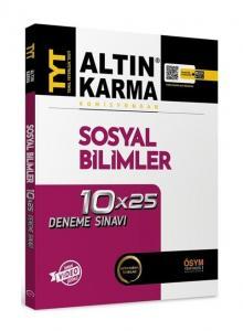 Altın Karma Yayınları TYT Sosyal Bilimler 10x25 Deneme Video Çözümlü