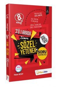 Hiper Zeka Yayınları 8. Sınıf Sözel Yetenek Yeni Nesil Soru Bankası 3 ü 1 Arada Zümre