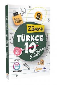 Hiper Zeka Yayınları 8. Sınıf Türkçe 10 Yeni Nesil Deneme Zümre