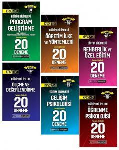 Pegem Yayınları 2020 KPSS Eğitim Bilimleri 120 Deneme 6 lı Set