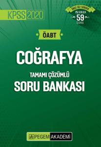 Pegem Yayınları 2020 KPSS ÖABT Coğrafya Tamamı Çözümlü Soru Bankası