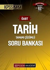 Pegem Yayınları 2020 KPSS ÖABT Tarih Tamamı Çözümlü Soru Bankası