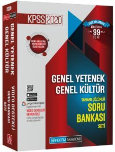 Pegem Yayınları 2020 KPSS Genel Yetenek Genel Kültür Çözümlü Modüler Soru Bankası Seti