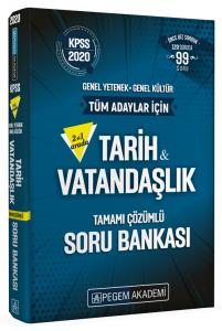 Pegem Yayınları 2020 KPSS Tarih-Vatandaşlık İkisi Bir Arada Soru Bankası Çözümlü