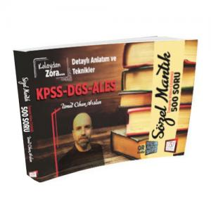 KPSS DGS ALES Kolaydan Zora Sözel Mantık Tamamı Video Çözümlü 500 Soru - 657 Yayınları