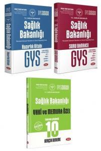 Data Yayınları 2020 GYS Sağlık Bakanlığı Konu Anlatımlı+Soru Bankası+VHKİ Memur 10 Deneme 3 lü Set