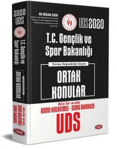 Data Yayınları 2020 UDS T.C. Gençlik ve Spor Bakanlığı Ortak Konular Konu Anlatımlı Soru Bankası