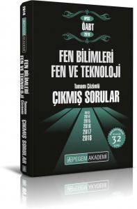 Pegem Yayınları 2019 KPSS ÖABT Fen ve Teknoloji Tamamı Çözümlü Çıkmış Sorular