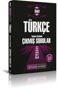 Pegem Yayınları 2019 KPSS ÖABT Türkçe Tamamı Çözümlü Çıkmış Sorular
