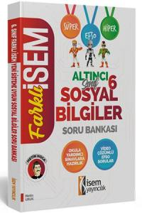 İsem Yayınları 6. Sınıf Sosyal Bilgiler Soru Bankası
