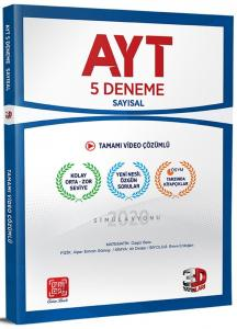 3D Yayınları AYT Sayısal Tamamı Video Çözümlü 5 Deneme