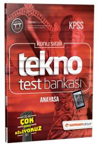 Uzman KPSS Tekno Anayasa Test Bankası 2019