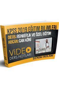 Benim Hocam KPSS Eğitim Bilimleri Rehberlik ve Özel Eğitim Video Ders Notları 2019