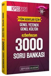 Pegem Yayınları 2020 KPSS Genel Yetenek Genel Kültür Ezberbozan 3000 Soru Bankası