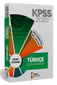 İsem Yayıncılık 2020 KPSS Ortaöğretim Ön Lisans Türkçe Tamamı Çözümlü Soru Bankası