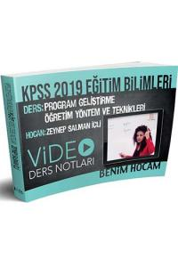 Benim Hocam KPSS Eğitim Bilimleri Program Geliştirme Öğretim Yöntem ve Teknikleri Video Ders Notları