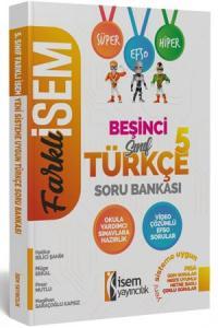 İsem 2020 Farklı 5. Sınıf Türkçe Soru Bankası