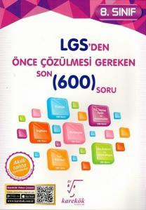 Karekök 8. Sınıf LGS'den Önce Çözülmesi Gereken Son 600 Soru