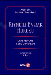 Kıymetli Evrak Hukuku  Mehmet Bahtiyar