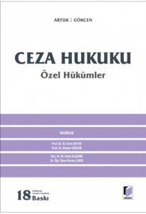 Ceza Hukuku Özel Hükümler  Mehmet Emin Artuk